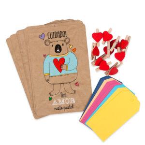 Kit Postal Contém Amor